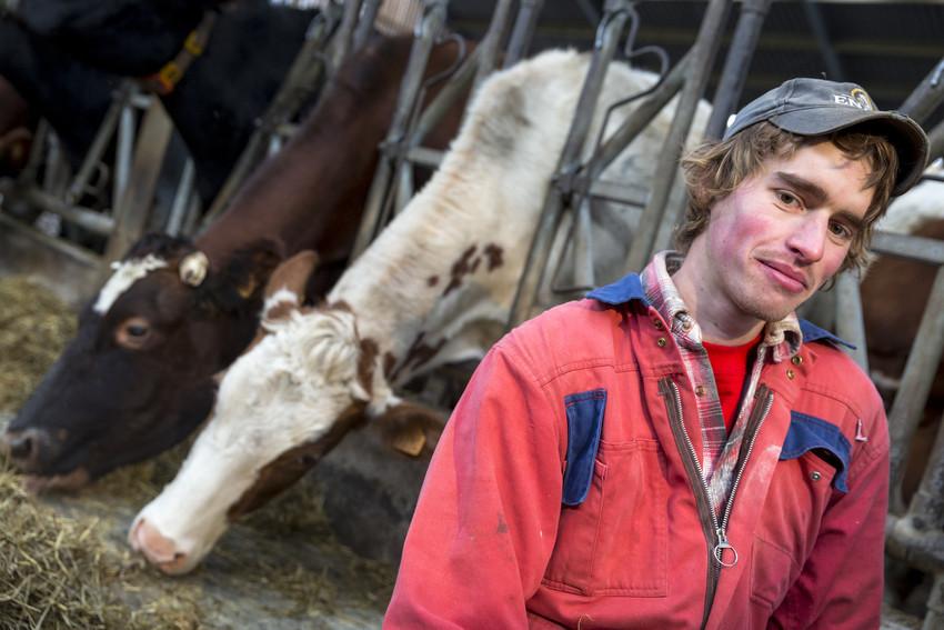 Frank Toussaint op bioboerderij De Zwaluw bio mijn natuur koe biologisch melk