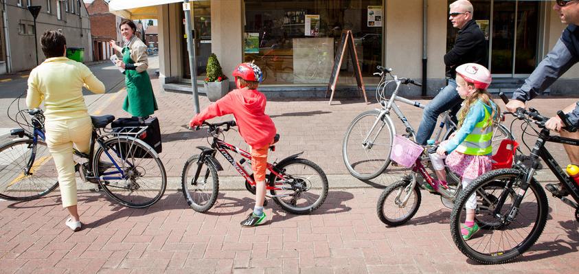 bio mijn natuur Lisa develtere fietstocht fietsen kinderen